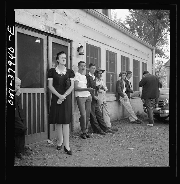 A Greyhound bus trip from Louisville, Kentucky, to Memphis, Tennessee, and the terminals. Idlers in front of the bus stop between Memphis and Chattanooga