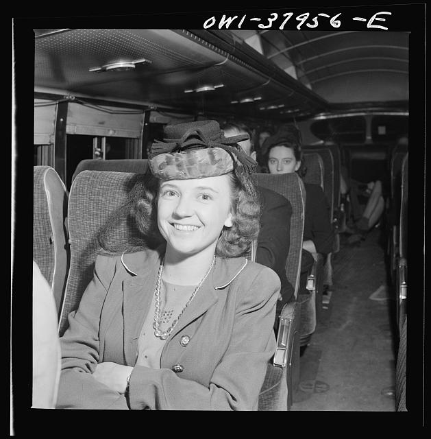 A Greyhound bus trip from Louisville, Kentucky, to Memphis, Tennessee, and the terminals. Roberta Locker, going to Chattanooga from Elora, Tennessee to work