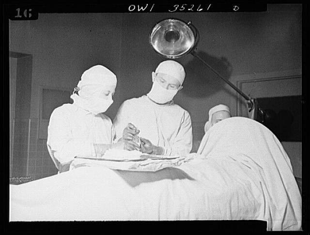 Johns Hopkins Hospital, Baltimore, Maryland. Operating room