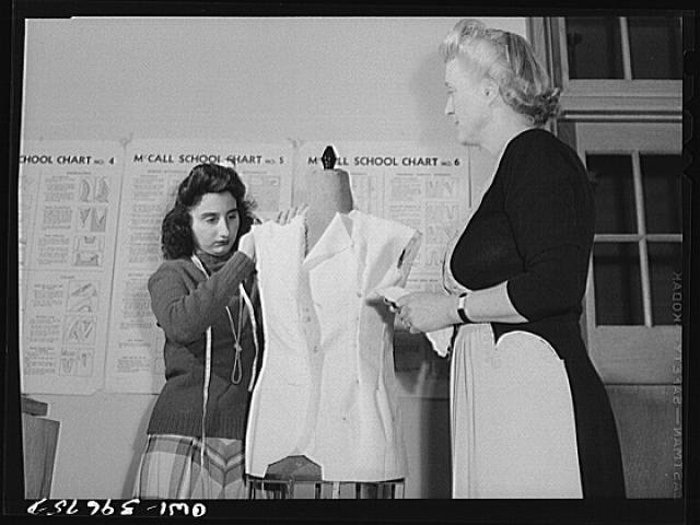 Washington, D.C. In a sewing class at Woodrow Wilson High School