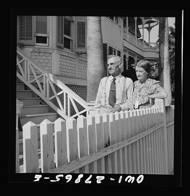 Galveston, Texas. Couple from New Hampshire who have settled in Galveston, Texas for their health