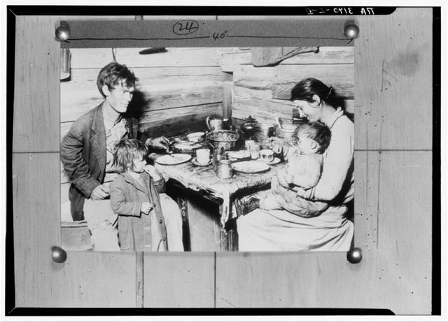 Red Cross picture of destitute family