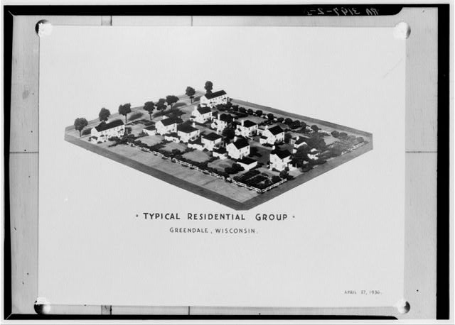 Model of typical residential group. Greendale, Wisconsin