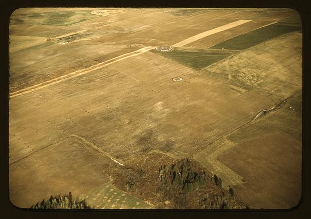 Potato farm in Aroostook county, Me., after the potatoes have been harvested