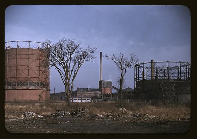 Industrial area in Massachusetts, possibly around New Bedford