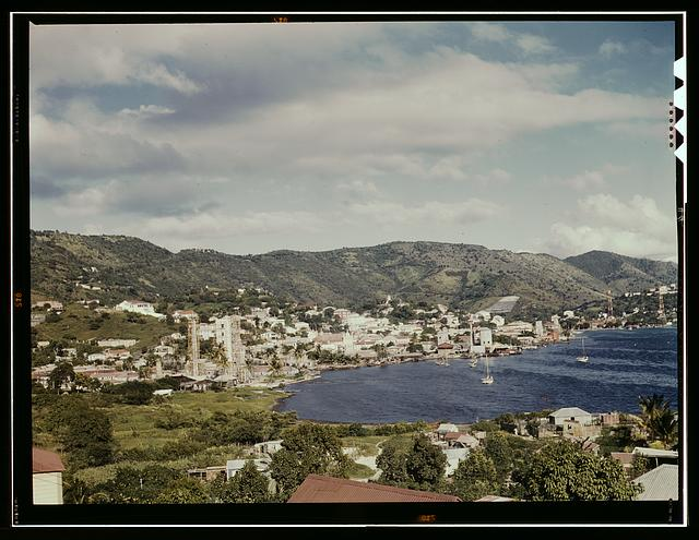 French village, a small settlement on St. Thomas Island, Virgin Islands