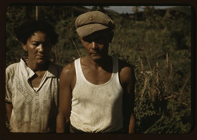 Sugar cane worker and his woman, Rio Piedras, Puerto Rico