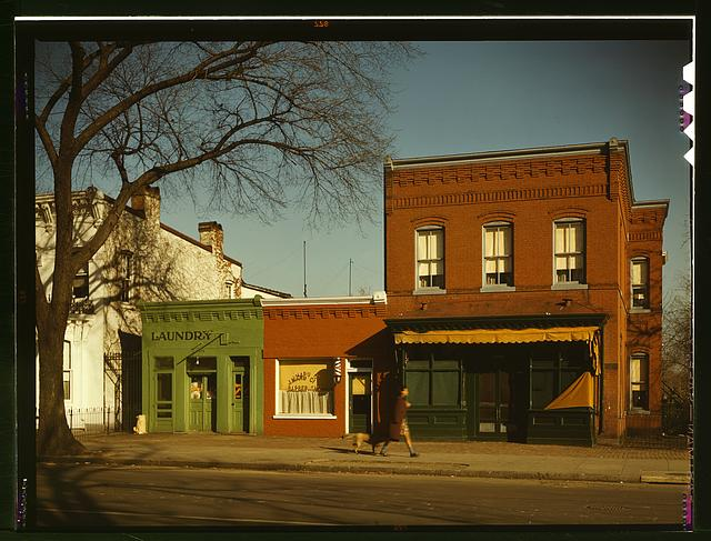 [Laundry, barbershop and stores, Washington, D.C.?]