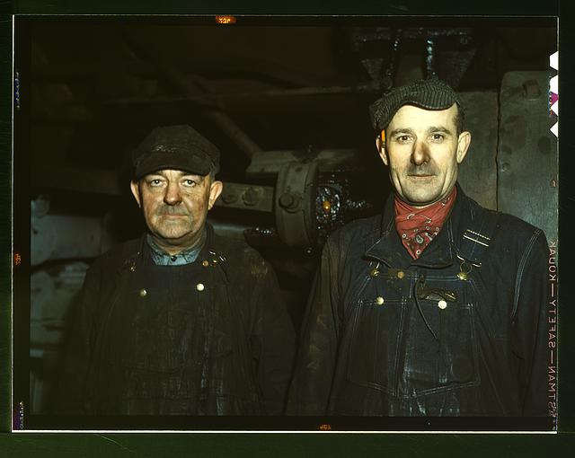 Workers at the roundhouse of the C & NW RR Proviso Yard, Chicago, Ill.