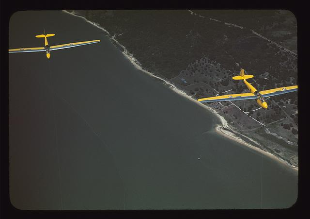 Marine Corps gliders in flight from Page Field, Parris Island, S.C.
