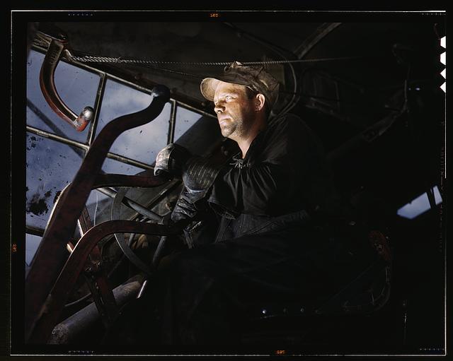 Crane operator at TVA's Douglas Dam, Tennessee
