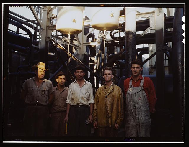 Employees at Mid-Continent Refinery, Tulsa, Okla.