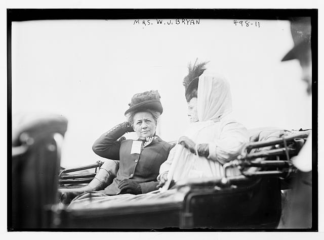 Mrs. W.J. Bryan and Mrs. Flaherty in carriage, New York