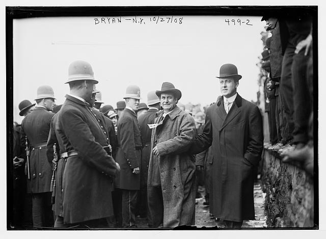 W.J. Bryan, policemen, New York