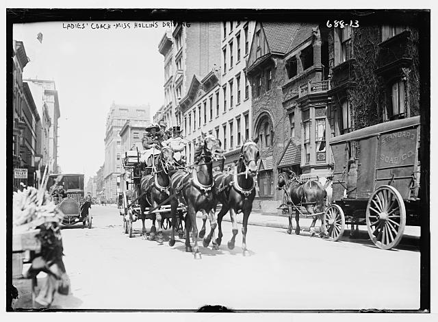 Miss Hollins driving Ladies Coach, New York