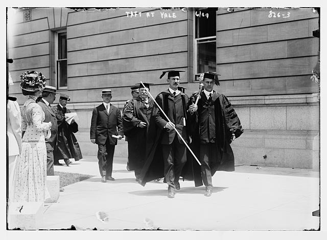 Taft at head of academic procession, Yale, New Haven