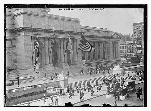 N.Y. Library on Opening Day