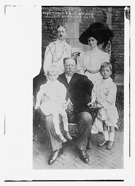 Pres. Taft, his sister, her children and Major Butt.