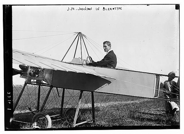 J.M. Johnson in Bleriotype [plane]
