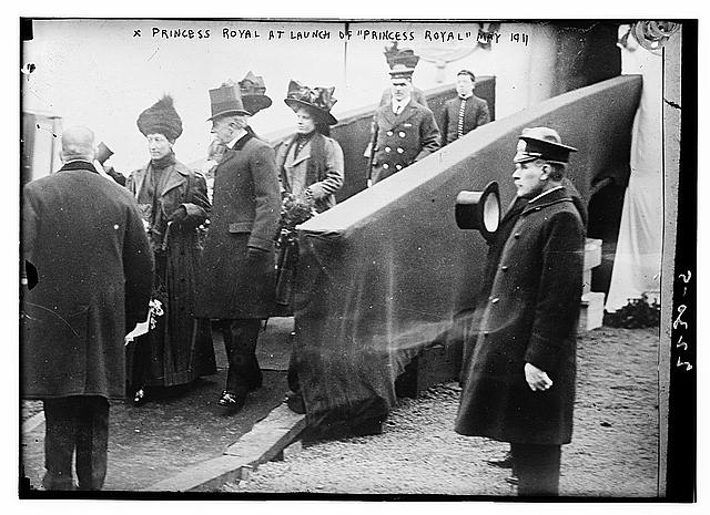 Princess Royal at Launch of PRINCESS ROYAL, May, 1911