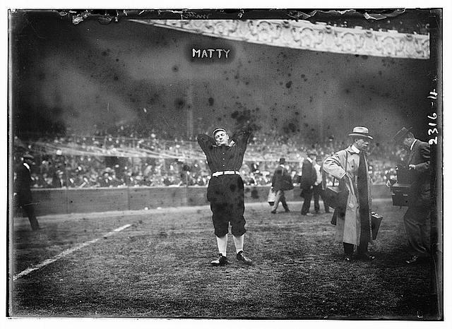 [Christy Mathewson, New York, NL - World Series warm up (baseball)]