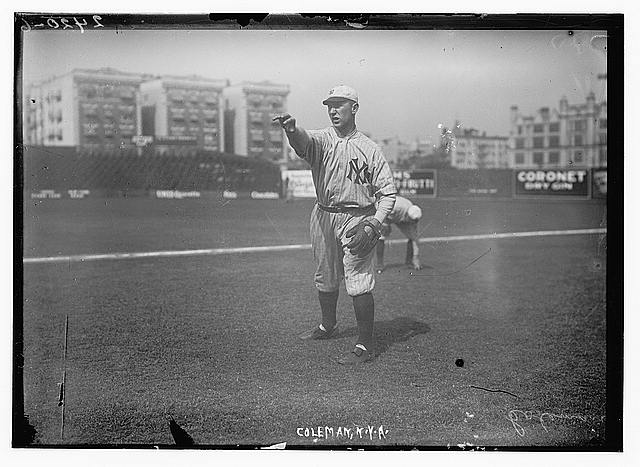 [Curt Coleman, New York AL, at Hilltop Park, NY (baseball)]