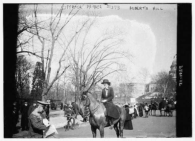 Suffrage Parade, Alberta Hill
