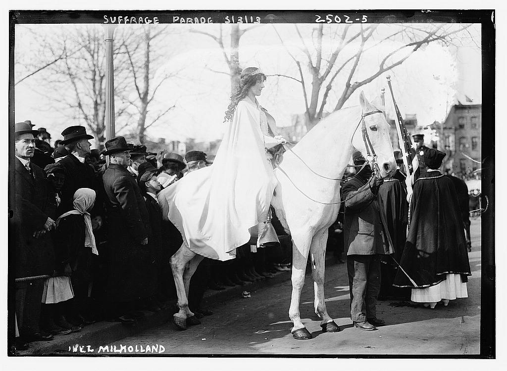 Suffragette on horseback