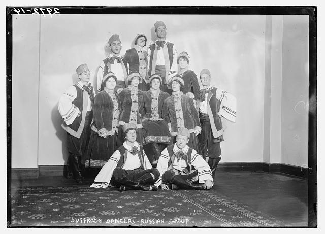 Suffrage dancers - Russian group