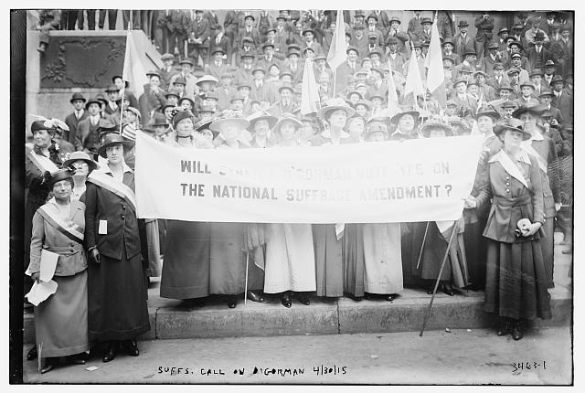 Suffs [i.e., suffragettes] call on O'Gorman, 4/30/15