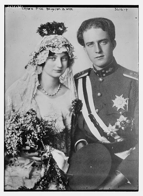Crown P'ce [i.e., Prince] Belgium and wife