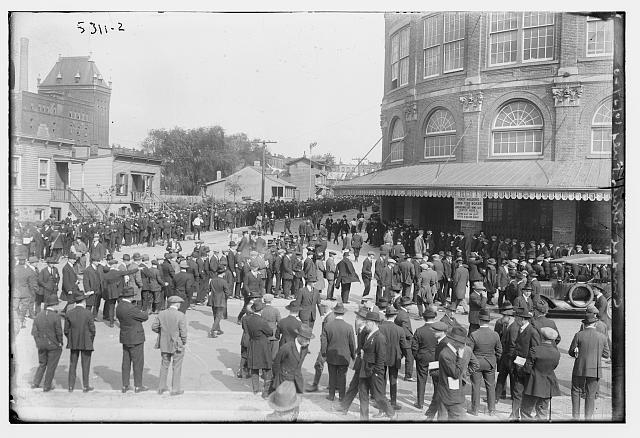 Crowd at Ebbets Field, 10/5/20