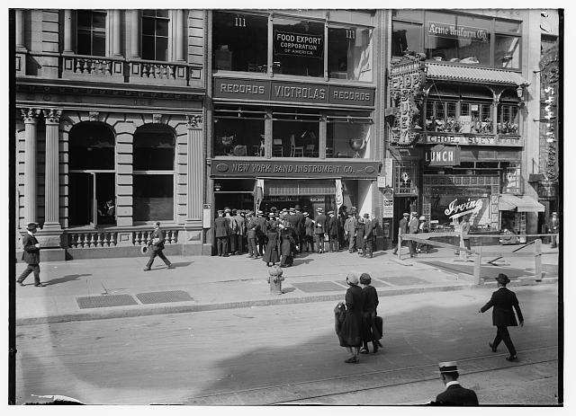 [N.Y. Band Instrument Co. Inc.] (street scene)