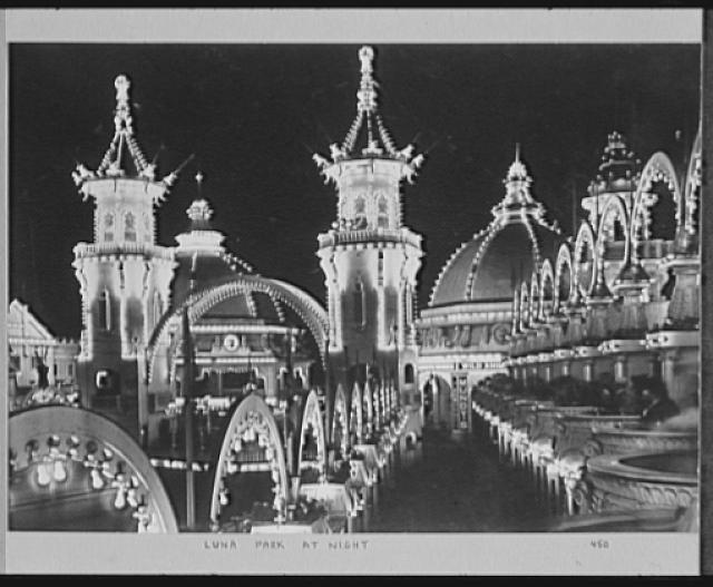 Seventy-one years, or, My life with photography. Luna Park at night