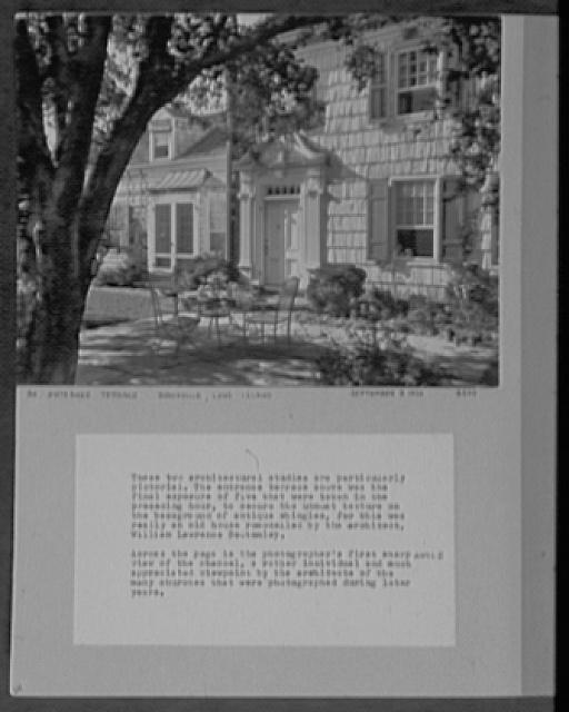 Seventy-one years, or, My life with photography. Entrance terrace, Brookville, Long Island, Sept. 8, 1926