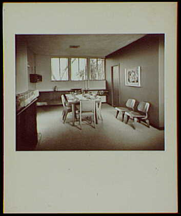 Master prints. Joseph Prisant, residence at 23 Woolies Lane, Great Neck, Long Island, New York, view into dining room