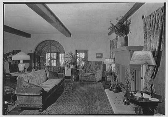 Thomas A. O'Hara, residence in King's Point, Great Neck, Long Island. Living room fireplace and grille