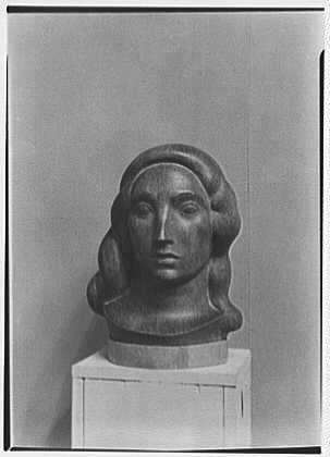 Gaston Lachaise, exhibition at Museum of Modern Art. Head II