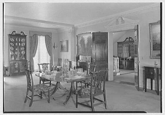 Richard V.N. Gambrill, Vernon Manor, residence in Peapack, New Jersey. Dining room II