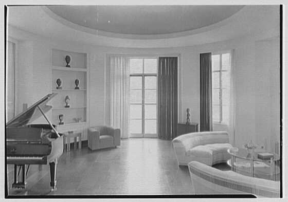 George R. Dyer, residence in Brookville, Long Island. Music room, horizontal
