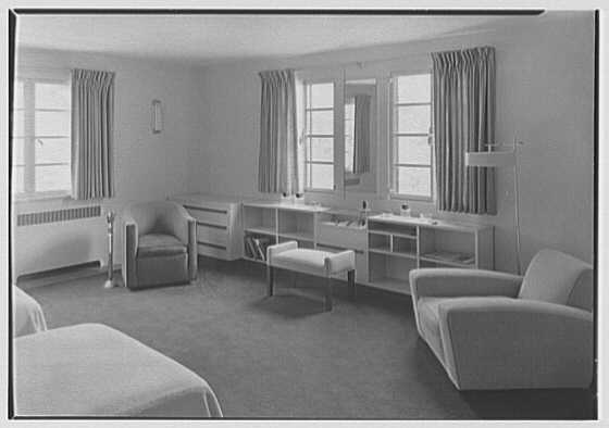 George R. Dyer, residence in Brookville, Long Island. Guest room no. 1