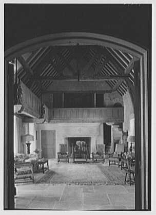 Mrs. F.R. Luce, residence in Gladstone, New Jersey. Gothic room framed in doorway