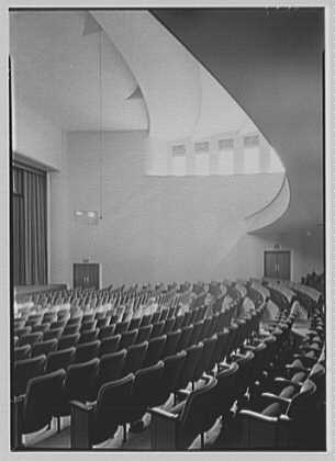 Connecticut College auditorium, New London, Connecticut. Interior by day