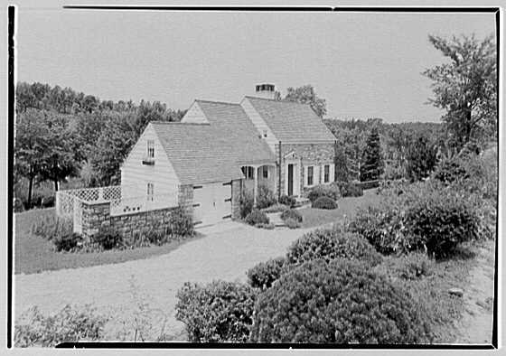 C. Maccoy, residence on Seven Bridges Rd., Chappaqua, New York. General exterior from hill II, a.m.