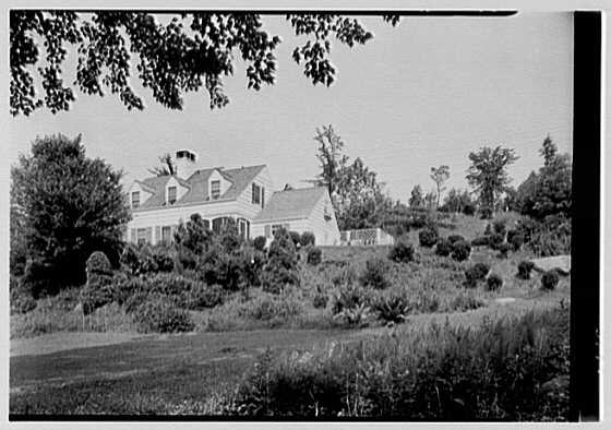 C. Maccoy, residence on Seven Bridges Rd., Chappaqua, New York. House from brook, horizontal