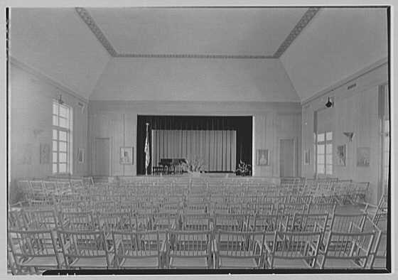 Norton Gallery and School of Art, West Palm Beach, Florida. Auditorium, general view
