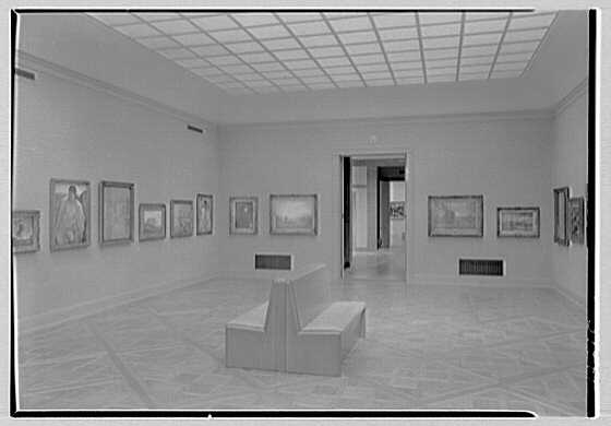 Norton Gallery and School of Art, West Palm Beach, Florida. Gallery cross view II