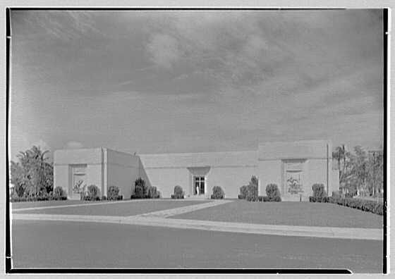 Norton Gallery and School of Art, West Palm Beach, Florida. Entrance facade