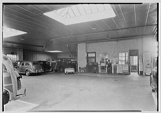 Rupp Bros., business in Lynbrook, Long Island. View to motor testing section