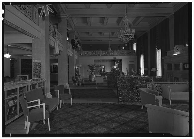 Newark Athletic Club, Broad St., Newark, New Jersey. Long shot of lobby